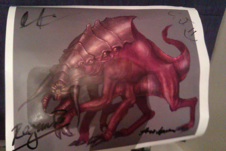 GW2 Art Piece signed by: Martin Kerstein, Regina Buenaobra, Colin Johanson and Theo Nguyen