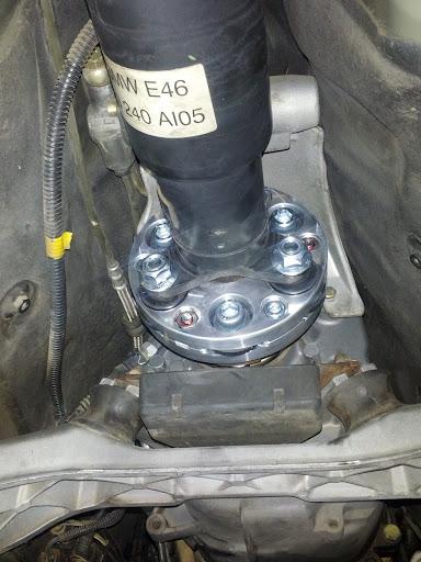 Flex Disc installed on an E46 M3