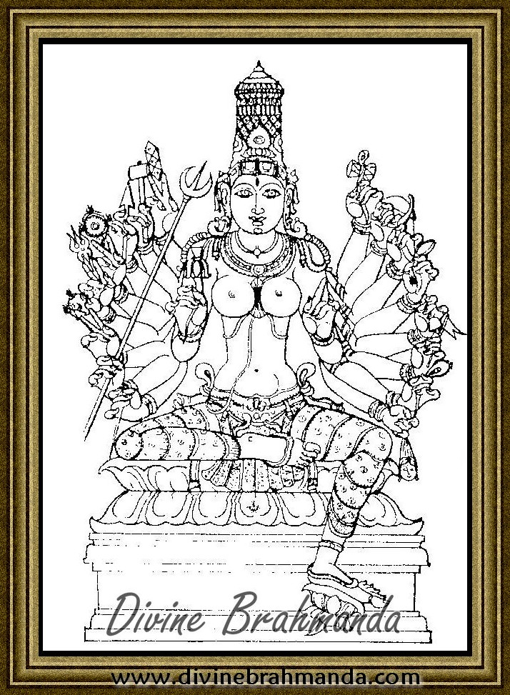 Soundarya Lahari Sloka, Yantra & Goddess For Elegant Or Persuasive Speaking - 45