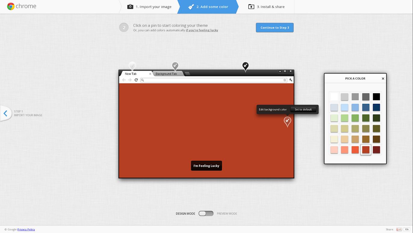 Свои темы в Google Chrome — Destio