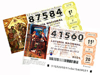Donativo de décimos de lotería premiados