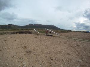 Alas aterrizadas en una de las campas de El Buey