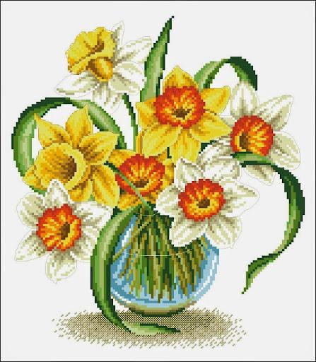 One spring cross stitch pattern