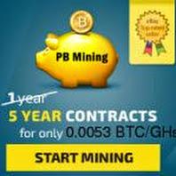 PBMining - майнинг биткоинов с контрактом на 5 лет