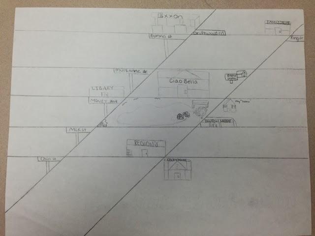 Geometry Line Design Project : No pencils design a special angles city