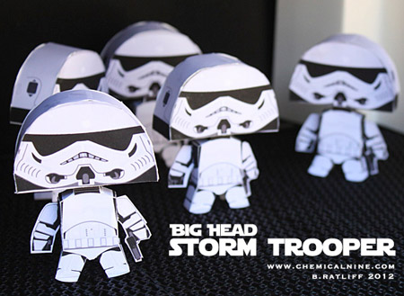Big Head Stormtrooper Paper Toy
