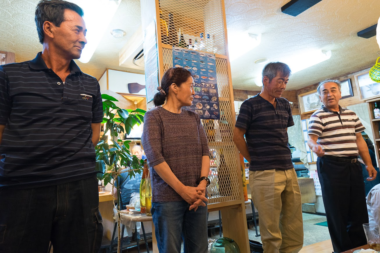 奥より:渡部達雄 代表取締役、谷口弘道さん、高林信行さんご夫婦