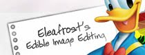 Eleafrost edible image printing and editing