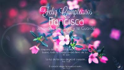 Feliz cumpleaños Francisca