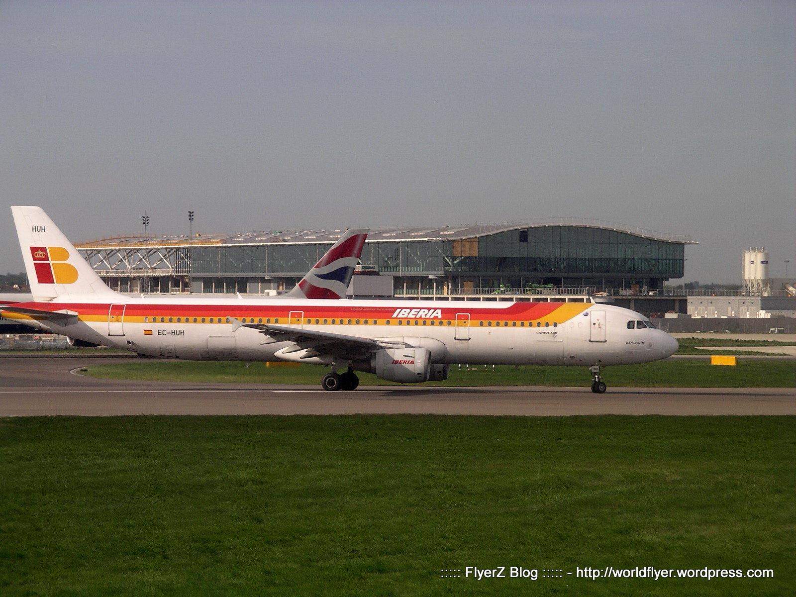 A321 Iberia in partenza per Madrid Barajas