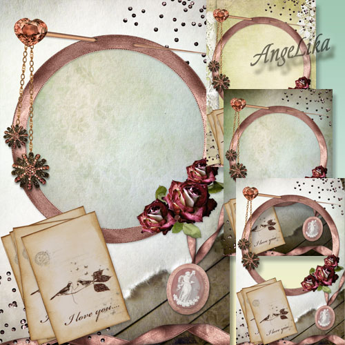 Vintage Fotoframe - Letters from Past