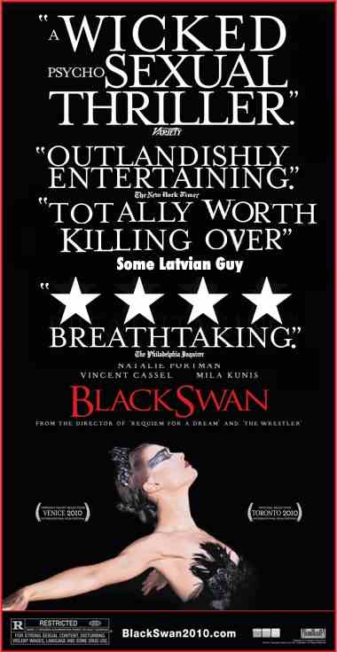 "A man was shot during a showing of ""Black Swan"" for complaining about a"