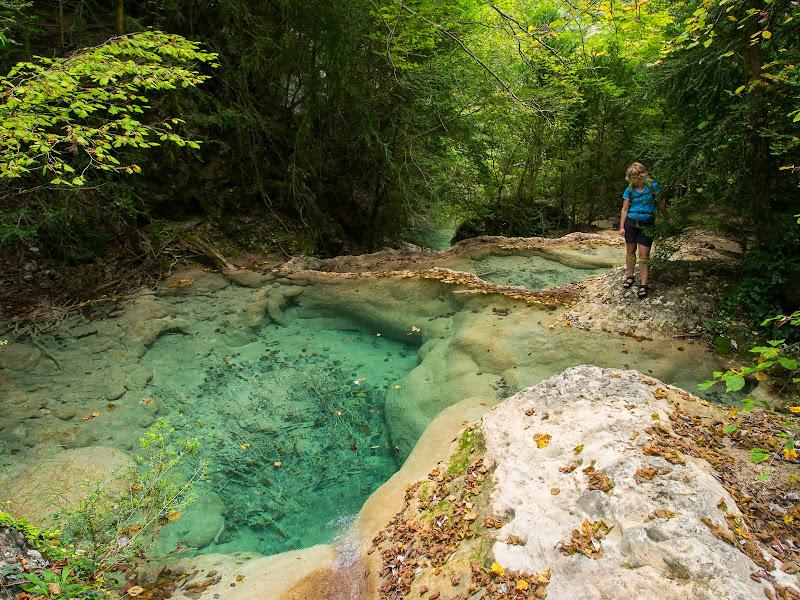 El torrent forma boniques piscines naturals
