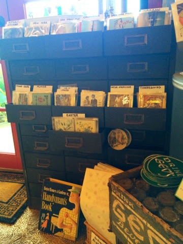 Pagoda Kauai vintage antique shop store Kapaa Hawaii black card catalog