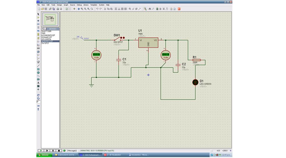 Circuito Regulador De Voltaje : Regulador de voltaje circuito