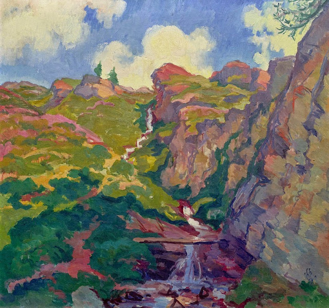 Giovanni Giacometti - Mountain stream. 1930