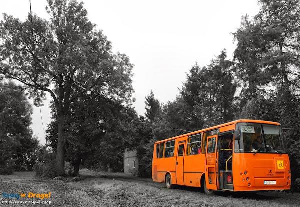 autobus oczekiwał już na odjazd