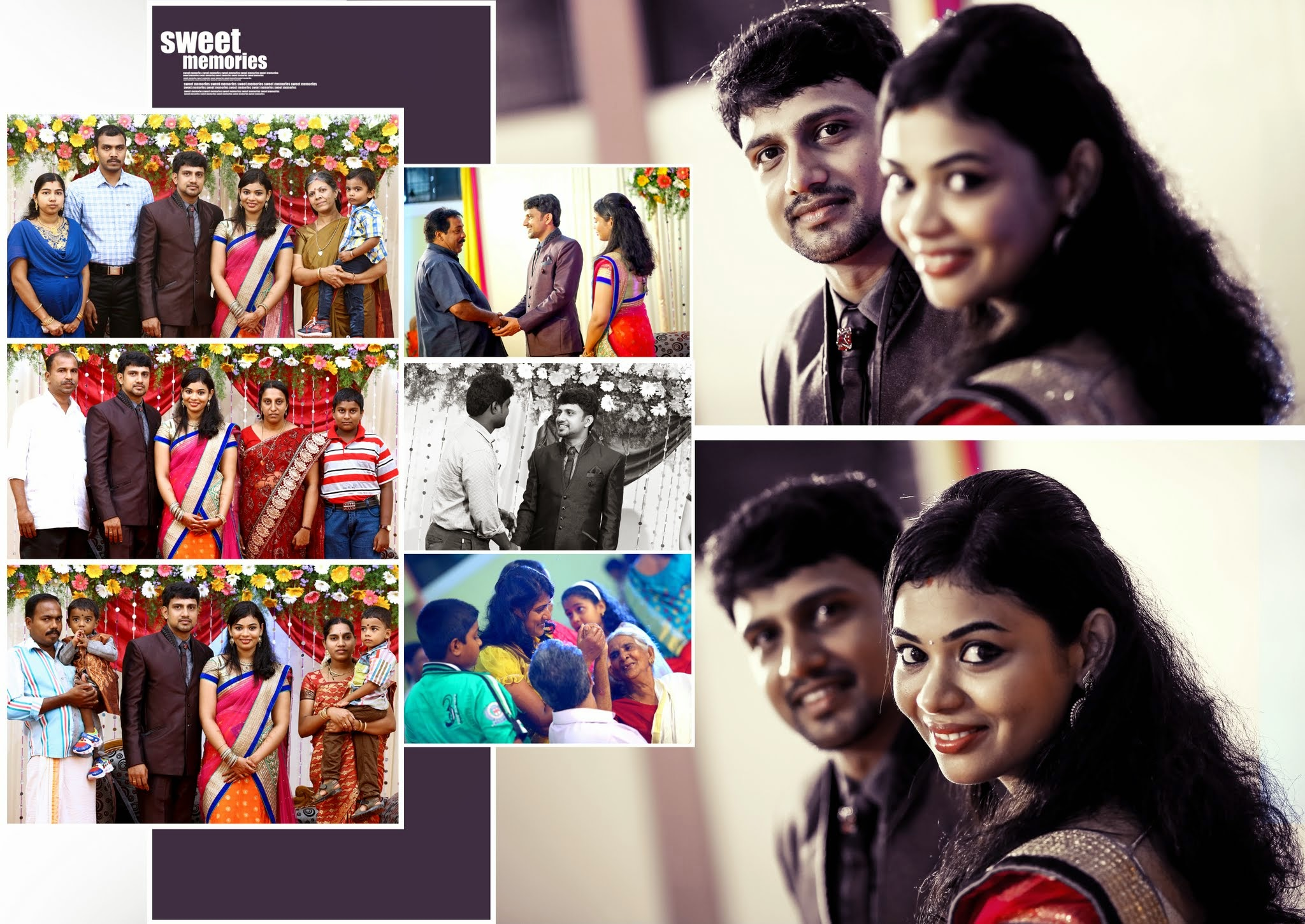 Kerala Style Hindu Wedding Album Pages Designed In 17 X 24 Size
