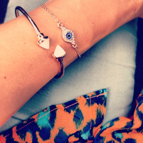 Evil eye bracelet from BaubleBar