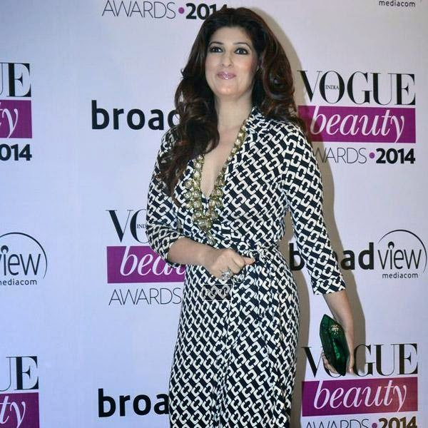 Twinkle Khanna arrives for Vogue Beauty Awards 2014, held at Hotel Taj Lands End in Mumbai, on July 22, 2014.(Pic: Viral Bhayani)