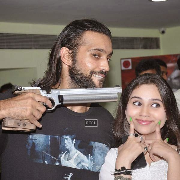 Akhil Kapur and Sasha Agha pose during the promotion of upcoming movie Desi Kattey, in Mumbai, on July 14, 2014. (Pic: Viral Bhayani)