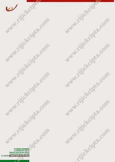 contoh kop surat perusahaan PT. Sierad, perusahaan produsen pakan ternak, ternak
