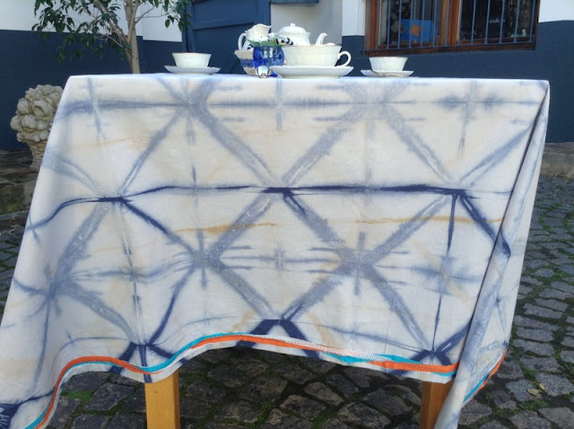 Manteles Shibori