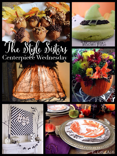 Centerpiece Wednesday Linky party, bloggers party, the style sisters