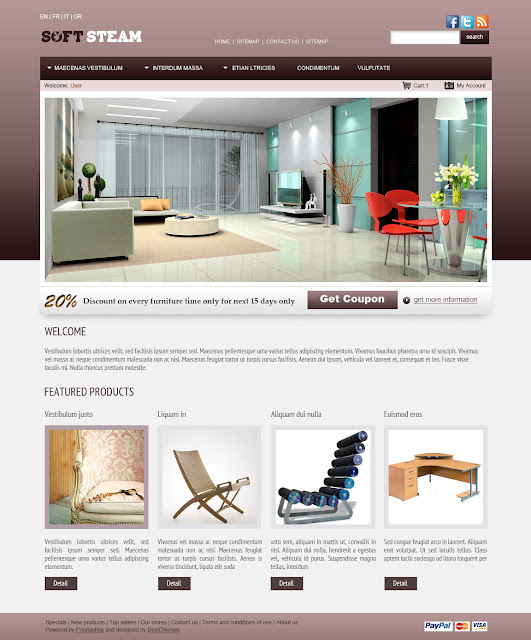 Prestashop Themes for Furniture, Interior Design and art - SoftSteam