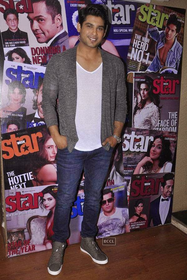Sidharth Shukla during the cover launch of Star Week magazine, in Mumbai, on July 31, 2014. (Pic: Viral Bhayani)