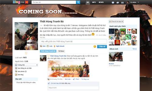 VNG sắp phát hành webgame Thất Hùng Tranh Bá 2