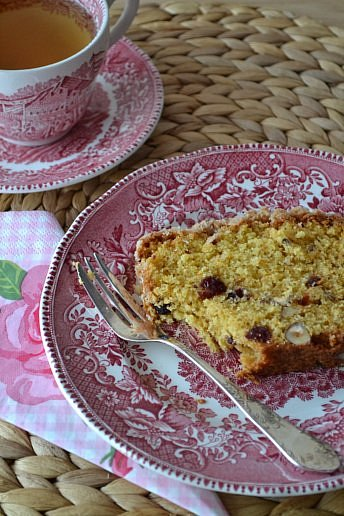Cranberry Orange Cake with Nuts