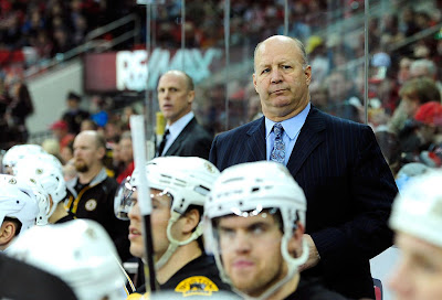 Bruins coach Claude Julien looks on during the game