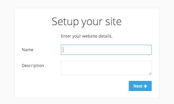 サイトを作成