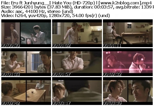 [MV] Eru ft. Junhyung (BEAST) - I Hate You (HD 720p Youtube)