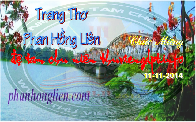 Trang Thơ Phan Hồng Liên chúc mừng Đệ Tam Chu Niên
