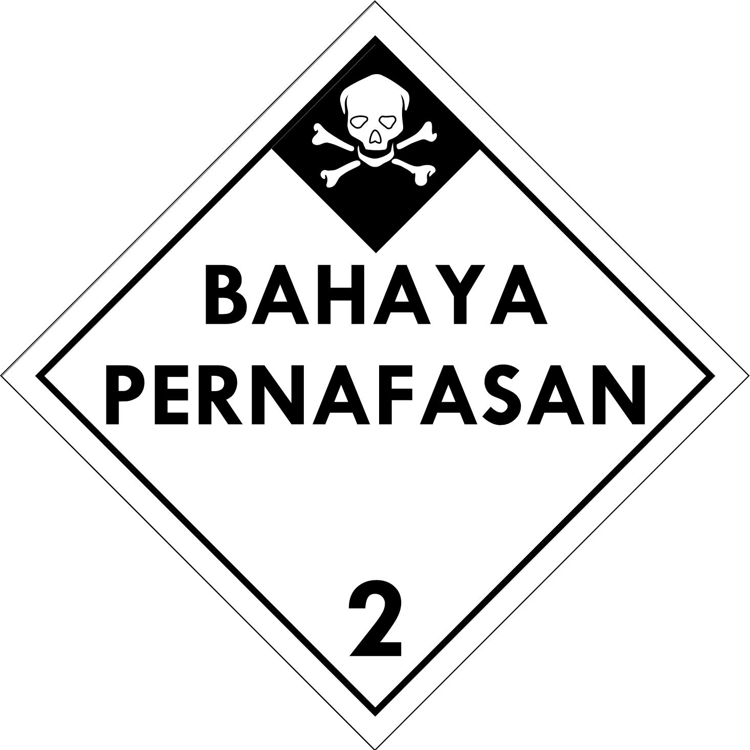 Label (Simbol) Transportasi Bahan (Material) Gas Beracun 2.2
