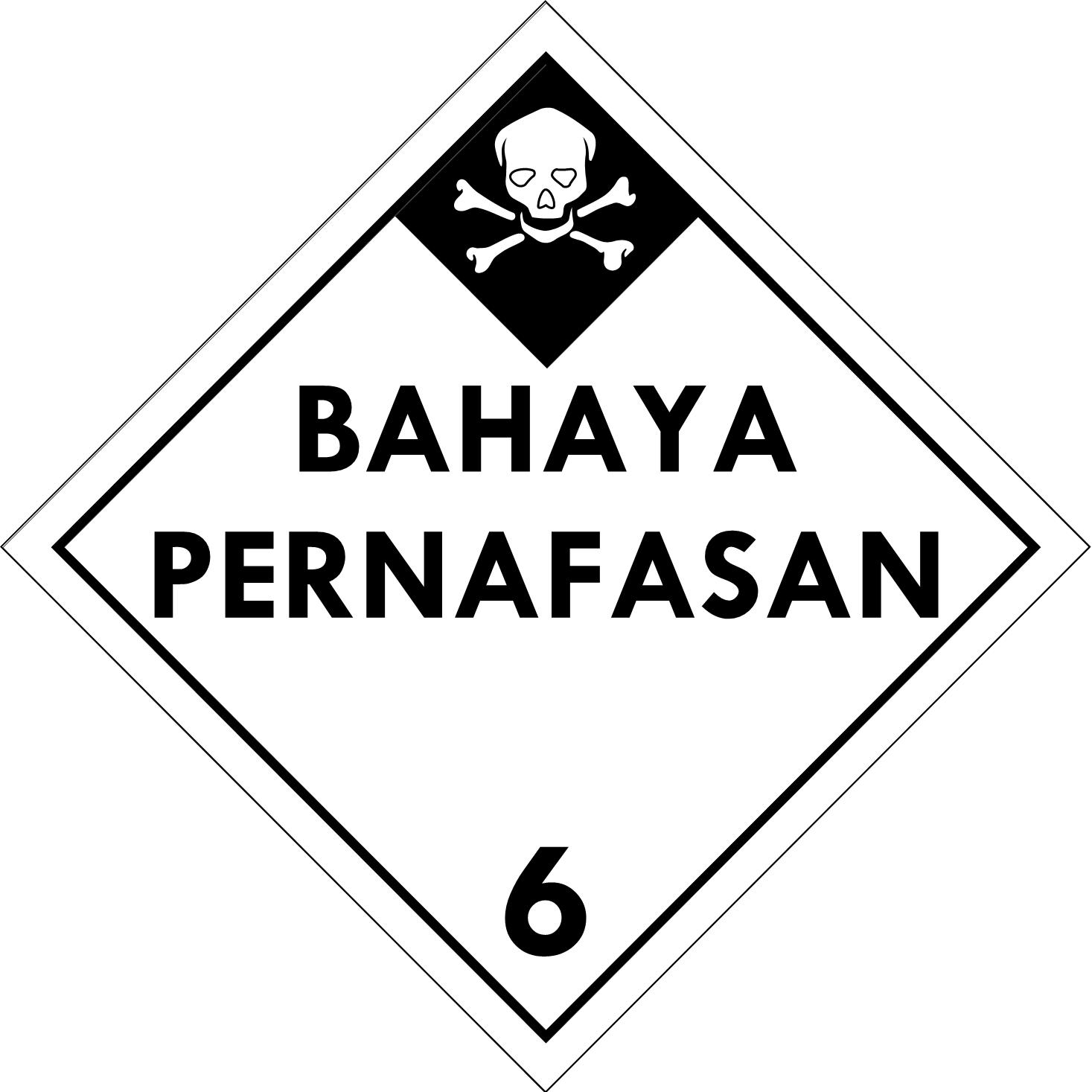 Label (Simbol) Transportasi Bahan (Material) Beracun 6