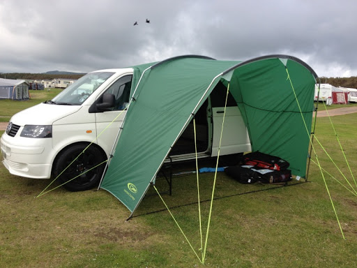 Using A Porch Tent As An Awning
