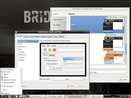 Bridge Linux 2012.8 Light Lxde