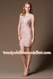 trendyol sandro Üstü Tül Pileli Pembe Elbise