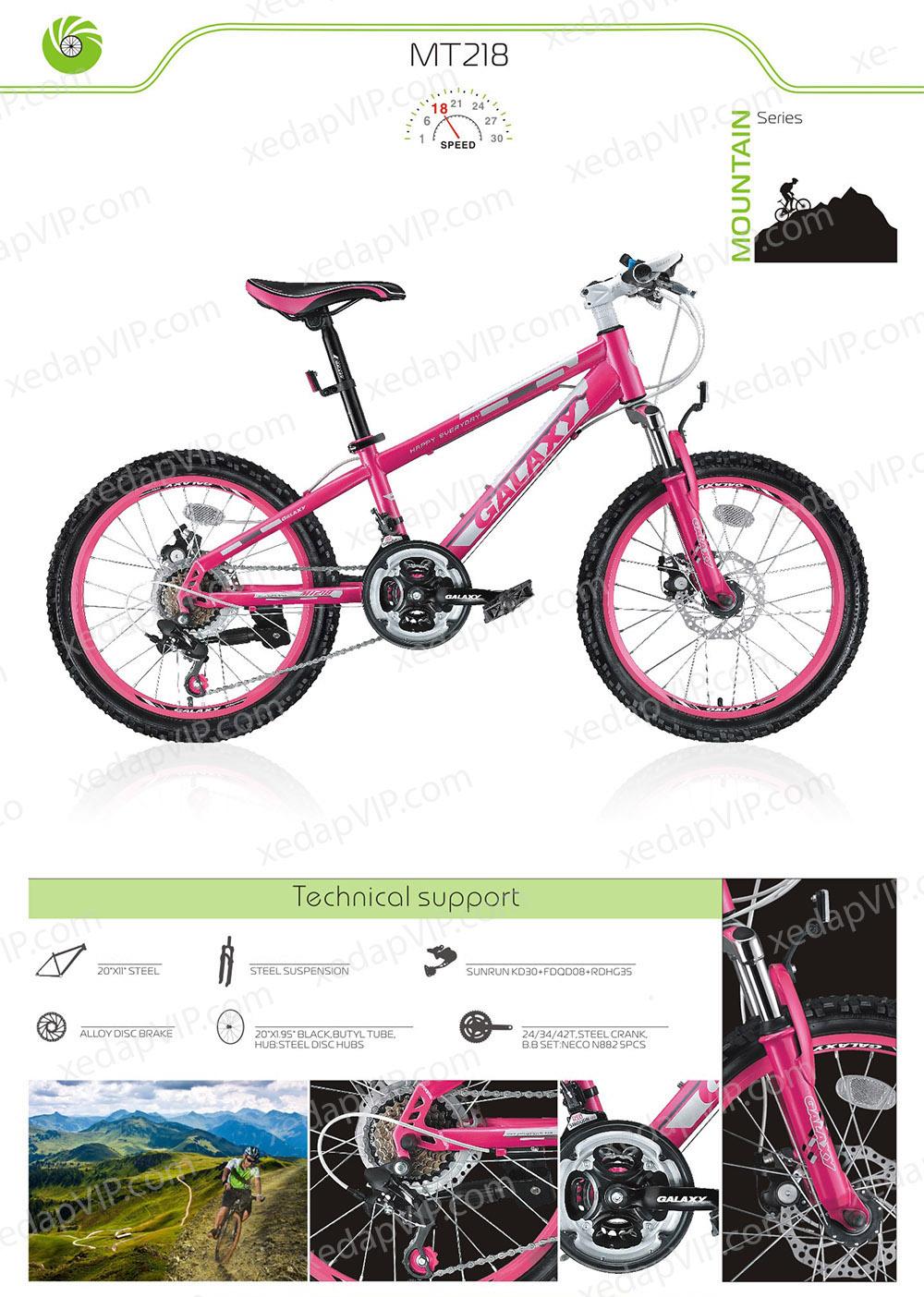 Xe dap the thao tre em GALAXY MT218, xe dap the thao, xe dap trinx, xe đạp thể thao chính hãng, xe dap asama, mt218