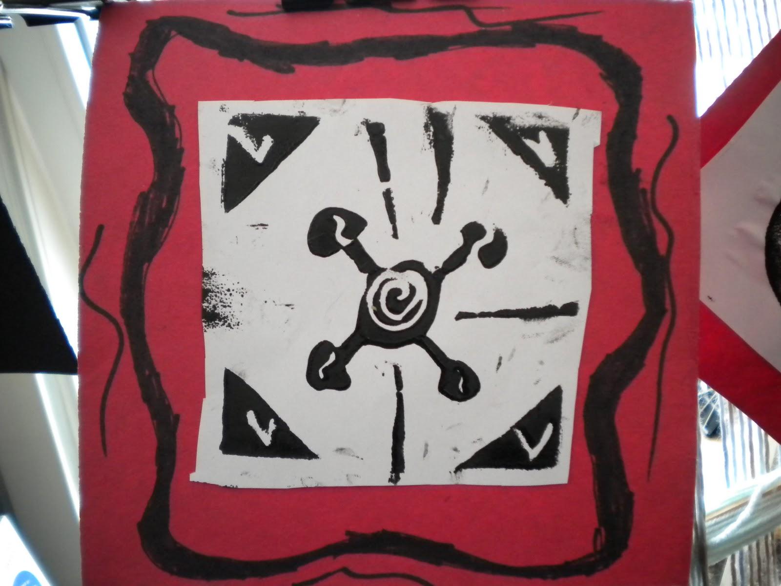 Waitsfield Elementary Art West African Adinkra Symbols