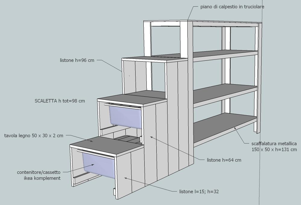 Ikea Scalette Per Letti A Castello.Progetto Cameretta Fai Da Te Hackeraggio Letto Stora Ikea