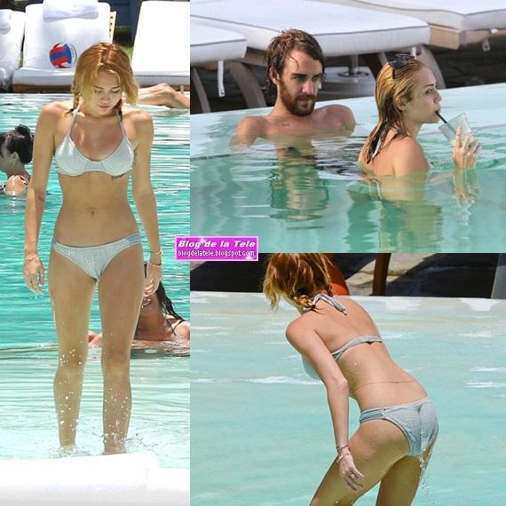 fdb9d64e Miley Cyrus muestra su tonificado cuerpo en bikini en la piscina de un hotel  en Miami, este miércoles 13 de junio de 2012. En las 22 fotos HQ mostradas  a ...