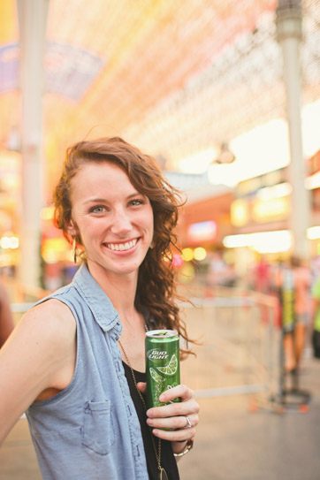 The Fremont Street Experience with Bud Light Lime.