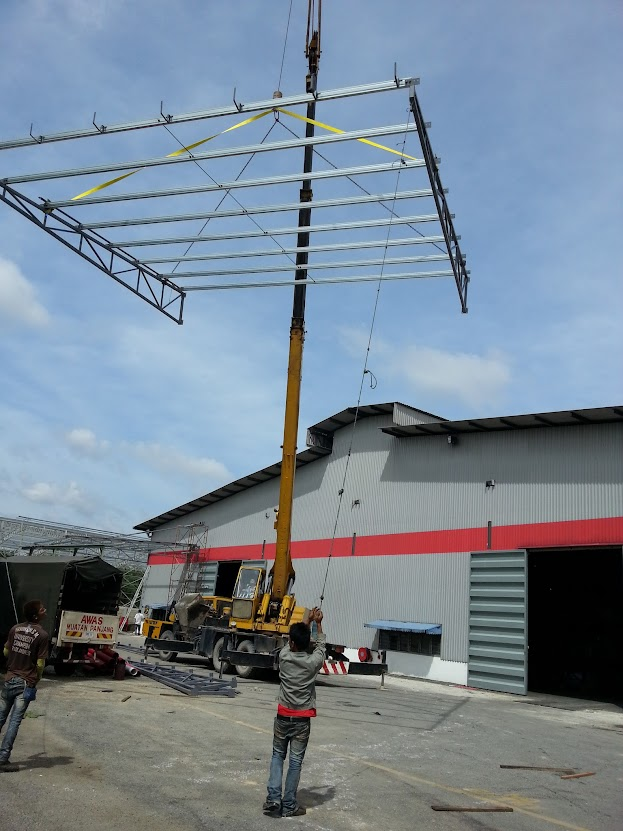 installing metal deck awning