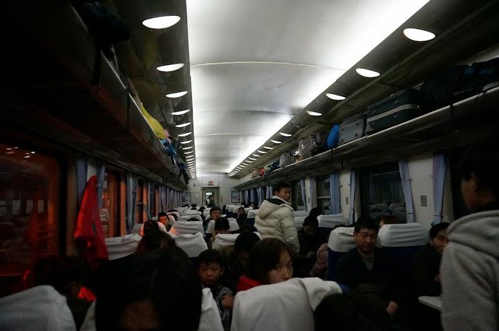 En el tren después de las prisas