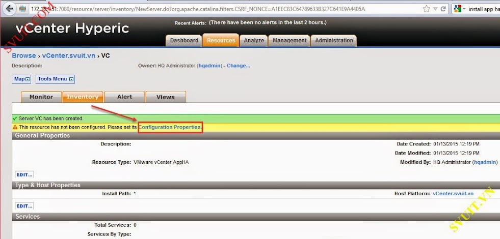 Configure vSphere vCenter Hyperic (8)