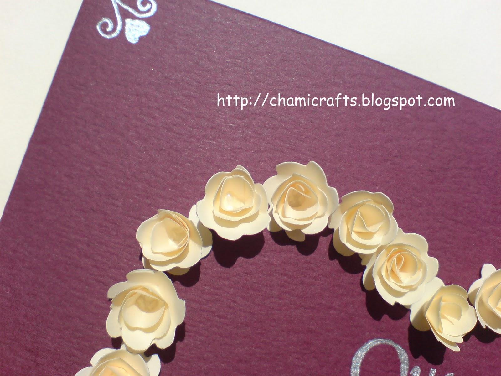 Chami crafts handmade greeting cards anniversary card
